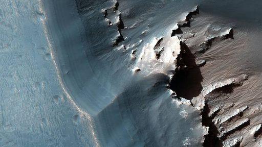 Mineral comum em Marte foi encontrado em gelo nas profundezas da Antártida