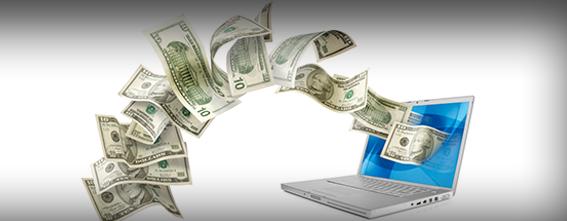 Dinheiro Internet Computador