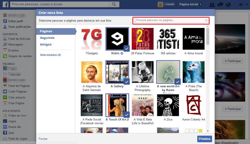 facebook interesses