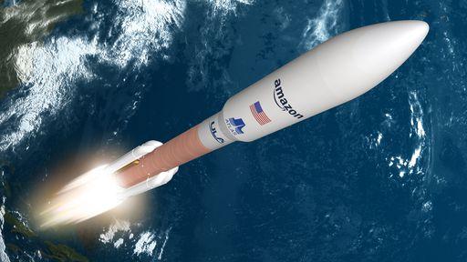 Amazon escolhe foguete Atlas V para lançar sua rede de satélites de internet