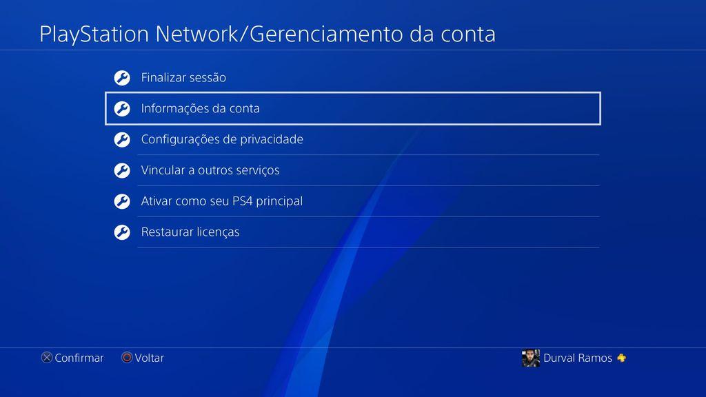 PS4 verificação