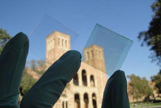 Painéis solares transparentes