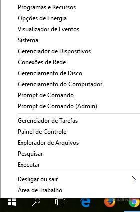 O menu de contexto é uma alternativa para aqueles que ainda sentem falta do menu Iniciar no Windows 8