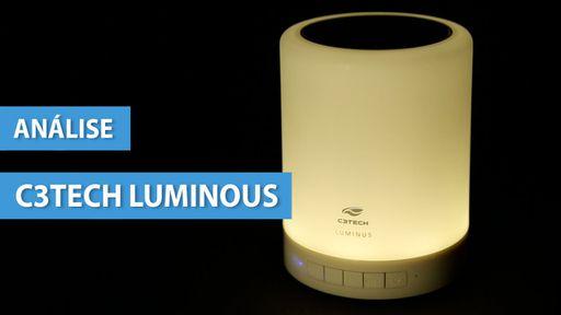 C3 Tech Luminus, a caixa de som que também é luminária [Análise]