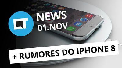 iPhone 8 com carregamento sem fio, Campus Party Brasil, app Hype e + [CTNews]