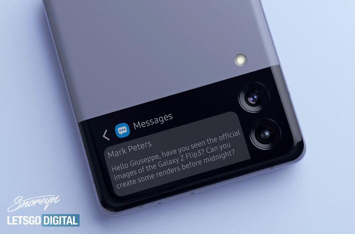 Samsung Galaxy Z Flip 3 conceito vazamento