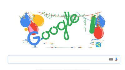 Google lança doodle especial para celebrar seu 18º aniversário