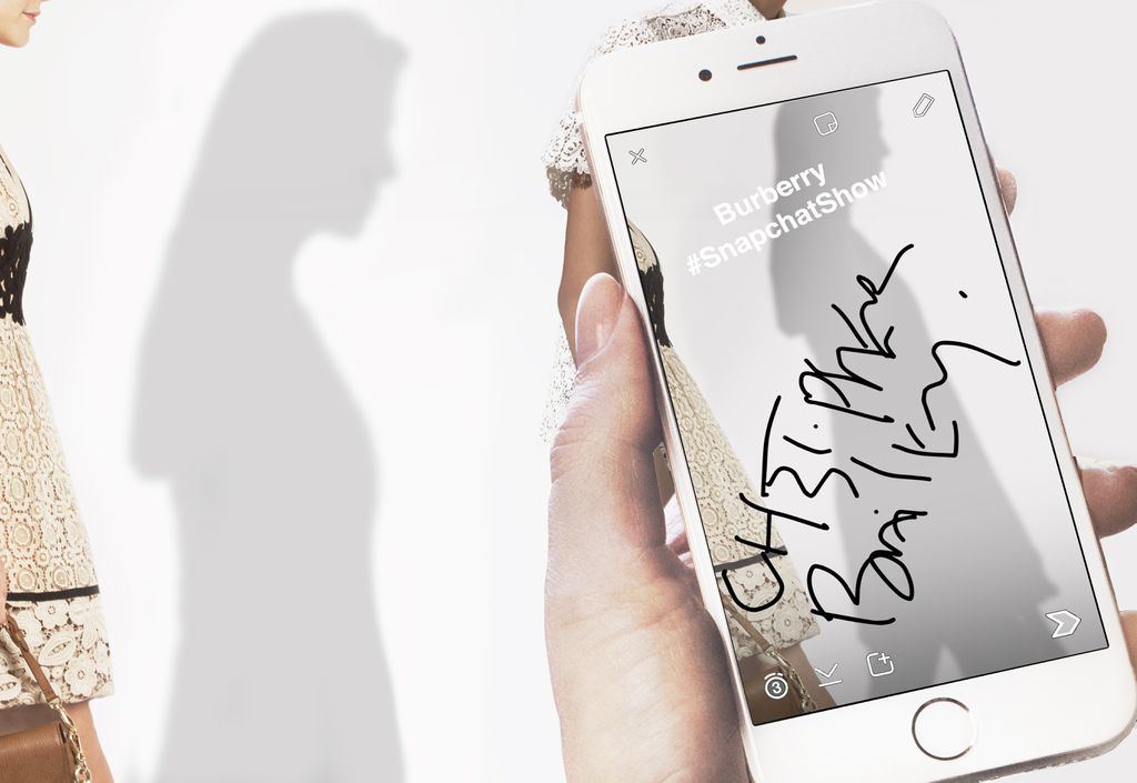 Burberry Snapchat