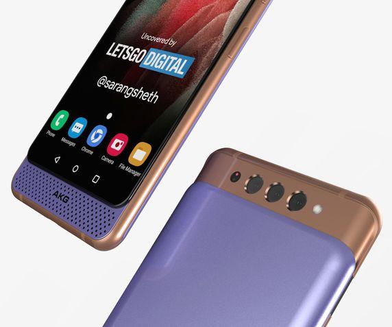 Renderização do suposto Galaxy A82 5G