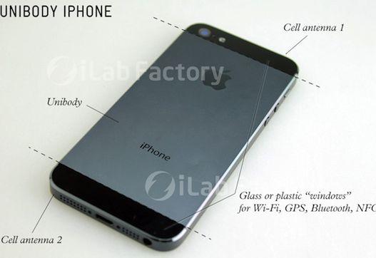 iPhone 5 parte traseira de metal