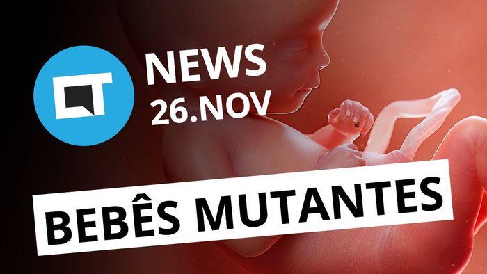 dcc1955e4 Bebês com genes modificados  LG com 16 câmeras  iPhone que muda de cor  CT  News  - Vídeos - Canaltech