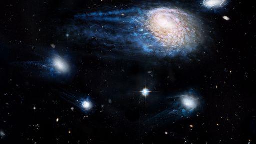 """Grandes galáxias estão """"canibalizando"""" o gás de suas vizinhas menores"""