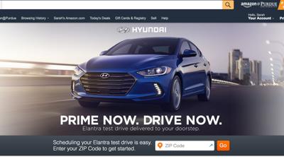 Amazon Prime Now oferece test drive de novo Elantra da Hyundai