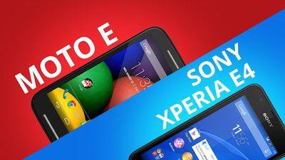 Motorola Moto E VS Sony Xperia E4 [Comparativo]