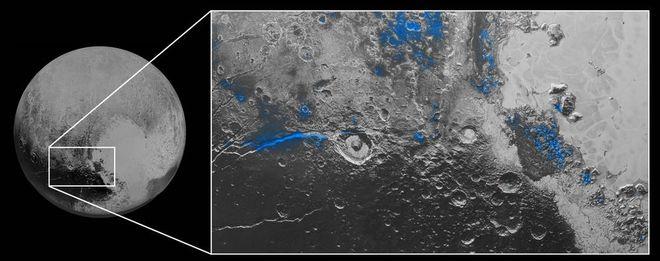Plutão água congelada