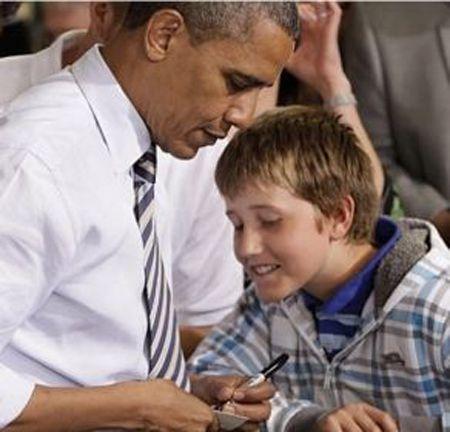 Bilhete de Obama para professor