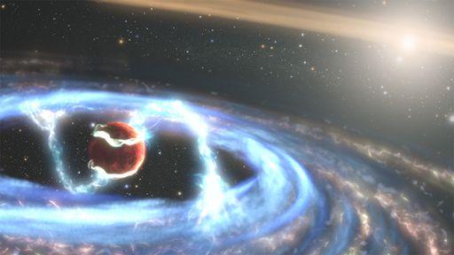 Hubble observa jovem exoplaneta gasoso ainda se alimentando de gás e poeira