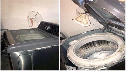 Não é só celular: máquina de lavar da Samsung também explode