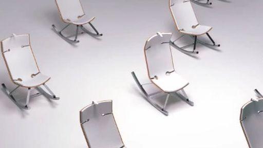 Simpática cadeira de balanço gera eletricidade para carregar gadgets