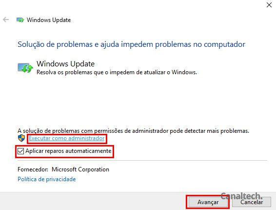 Aqui, não se esqueça de executar o processo como administrador para evitar de ser barrado pelas permissões do Windows