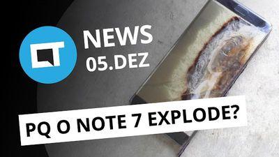 Possível causa das explosões do Note 7; Google Allo em português e + [CTNews]