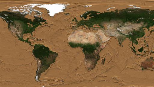 Como o mundo pareceria se os oceanos ficassem completamente secos?