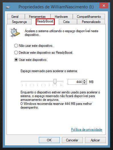 ReadyBoost Windows 8