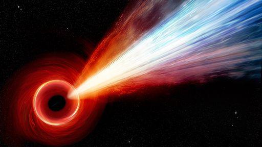 Jato gigantesco de quasar no início do universo mede 160 mil anos-luz
