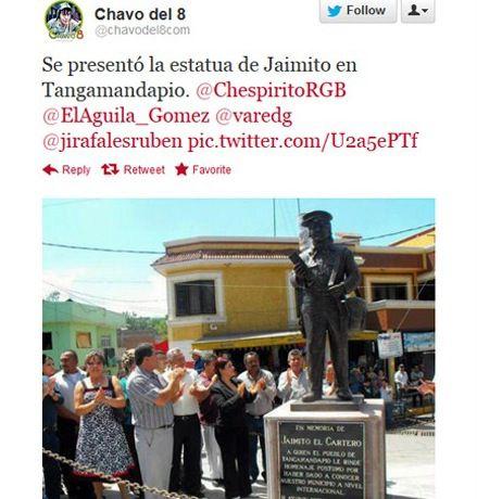 Estatua Jaiminho Chaves