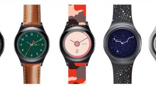 Samsung exibe novos modelos de pulseiras para o Gear S2