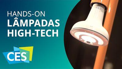 Lâmpadas inteligentes amplificam sinal WiFi, têm som e câmera embutidas [Hands-on | CES 2015]