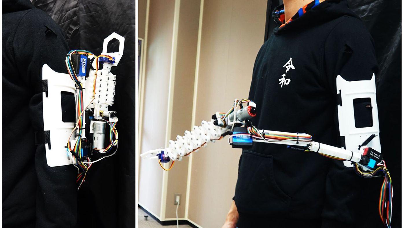 """Braço robótico """"extra"""" promete ajudar nas tarefas do dia a dia"""