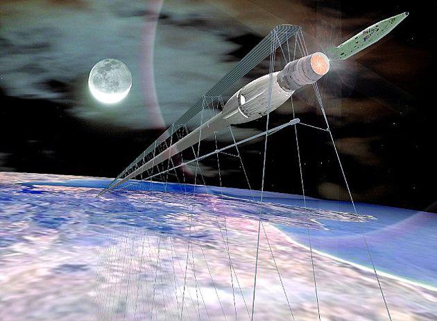 Trem ao espaço