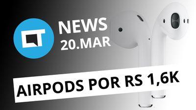 AirPods de segunda geração; Google multada em US$ 1,7 bilhão e + [CT News]