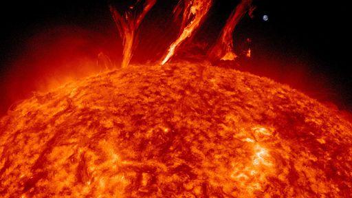 Tempestades solares perigosas atingem a Terra a cada 25 anos