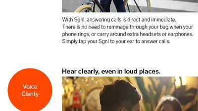 Sgnl: para atender a ligações, basta colocar o dedo no ouvido