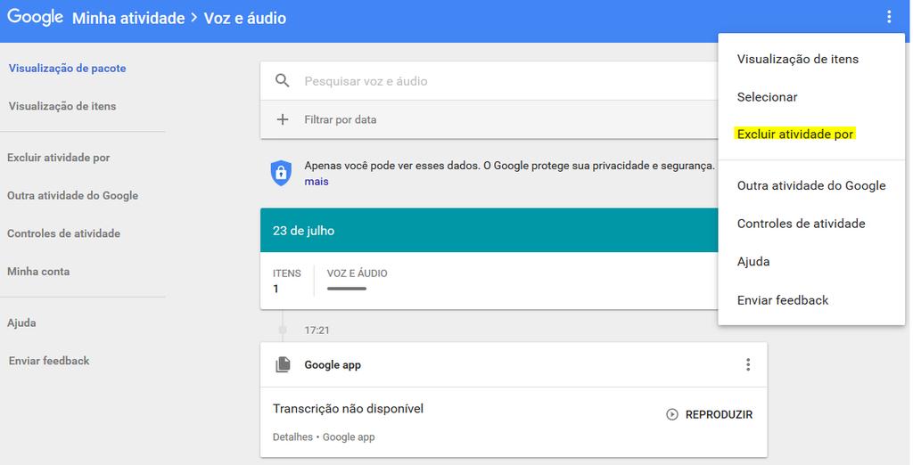 Áudios Google