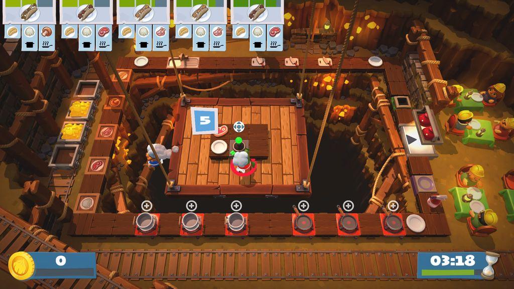 O level design das cozinhas foi retrabalhado e exige mais planejamento, organização e timing dos jogadores