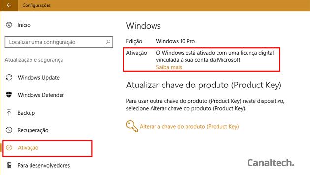 Após adicionar uma Conta Microsoft para autenticar no Windows 10, a licença dele automaticamente será atrelada a essa conta