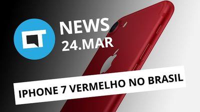 iPhone 7 vermelho chega ao Brasil; Snapdragon 835; loja revela o Galaxy S8 e + [