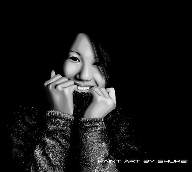 Fotografia criada no Paint