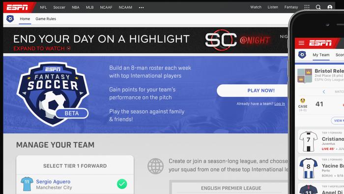 48f934ca8 ESPN lança seu próprio fantasy game de futebol com as principais ligas do  mundo