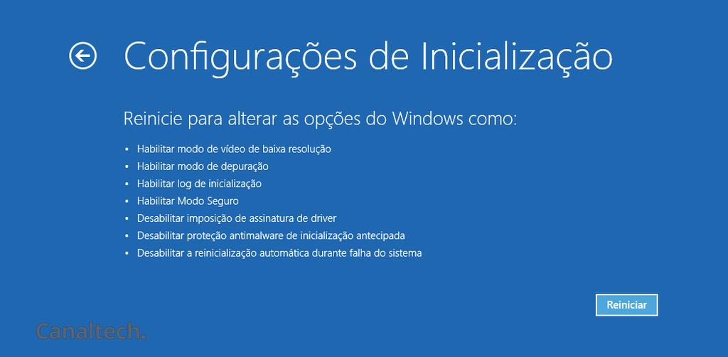 Inicialização do Windows
