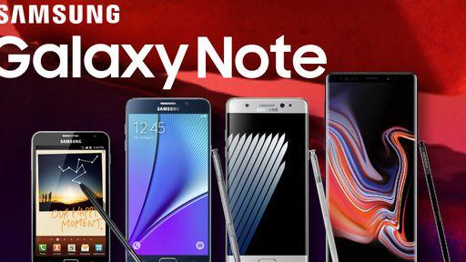 Do primeiro ao Note 20: a evolução da série Galaxy Note da Samsung