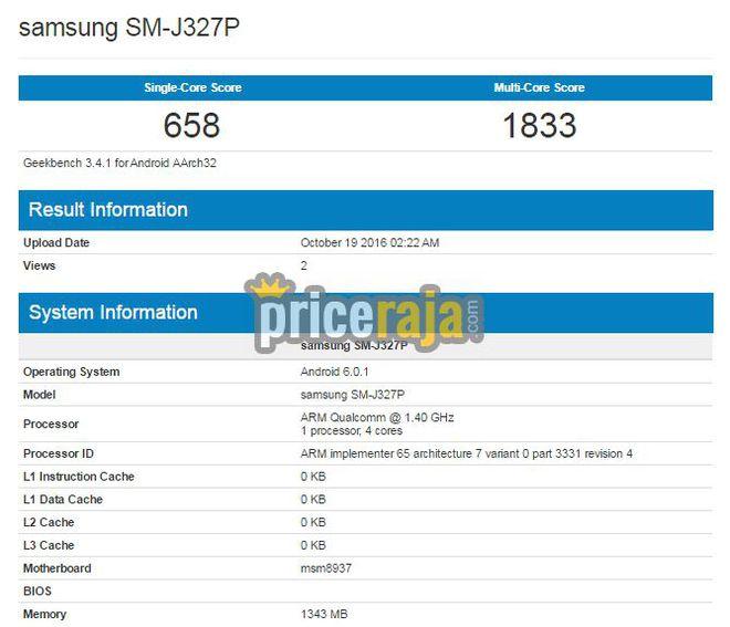 De codinome SM-J327P, o Galaxy J3 trará especificações básicas e será voltado para um público menos exigente