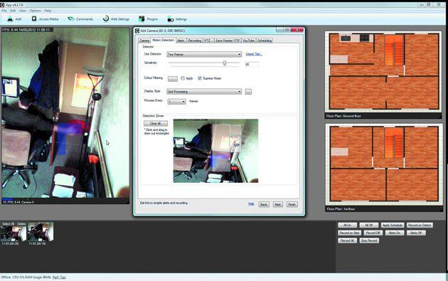 iSpy configuração de câmeras