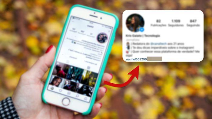 Como colocar um link para o seu WhatsApp no perfil do Instagram
