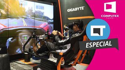Cadeira gamer VR é o destaque da Gigabyte [Hands-on | Computex 2016]