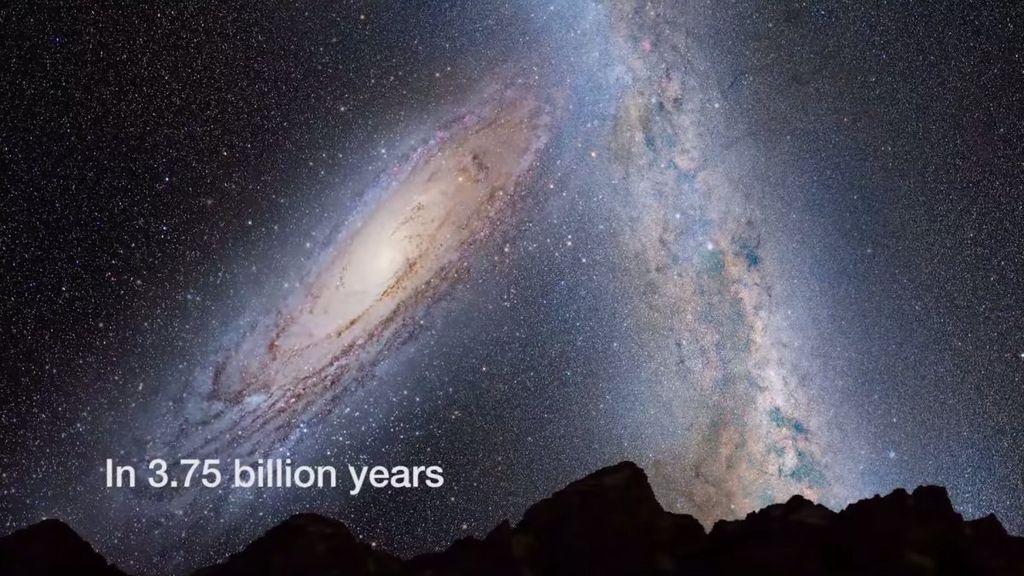 colisão Via Láctea e Andròmeda