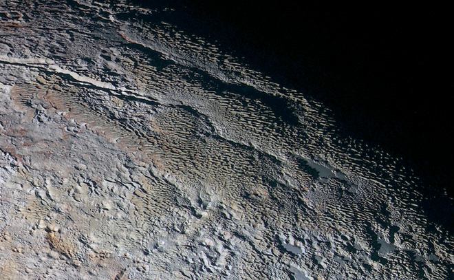 Plutão textura